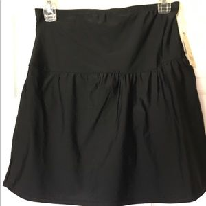 St John's Bay Swim skirt Cover up Black NWT